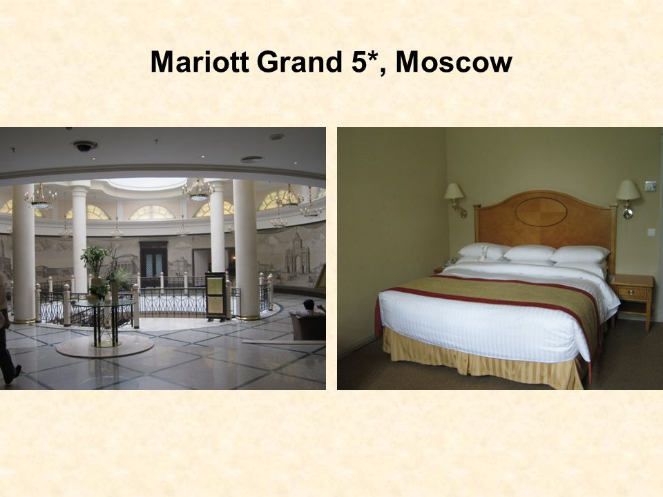 Location Located on Tverskaya Street, in the very centre of the city, the Marriott Grand Hotel provides some of the finest services in Moscow.