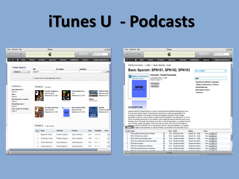 iTunes U - Podcasts