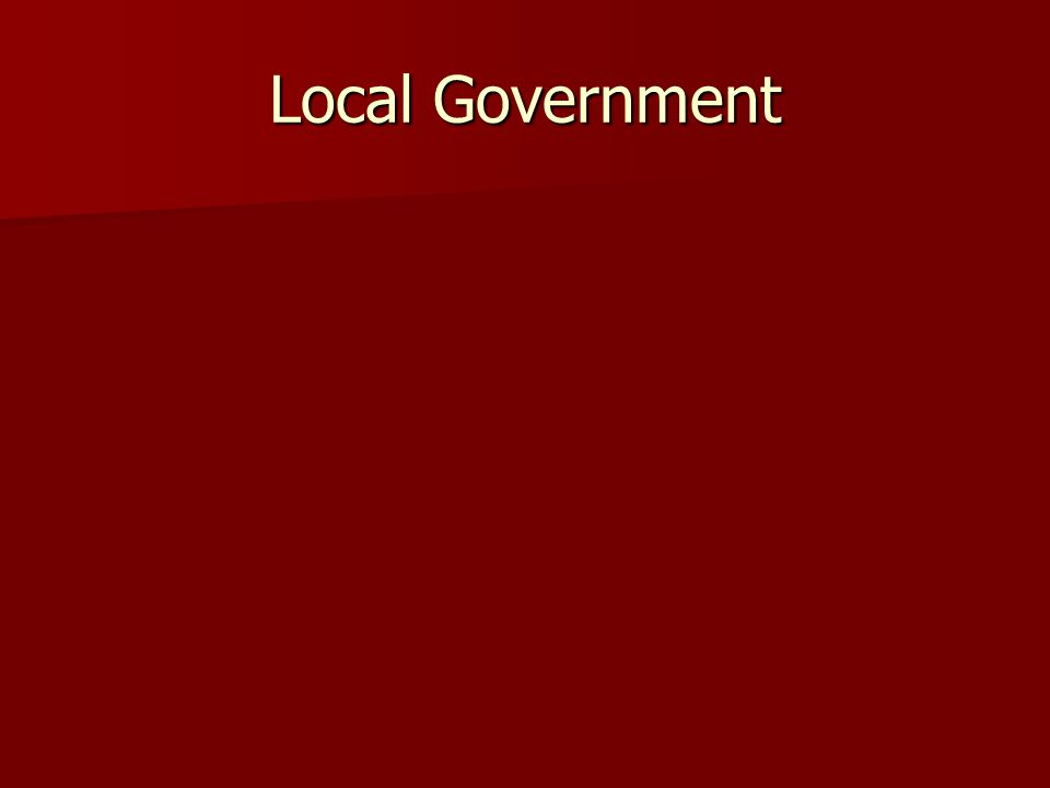 Local Government in Virginia Local Governments are organized differently from state to state.