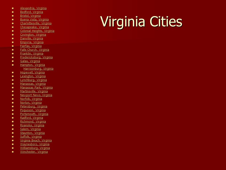 Counties in Virginia---99