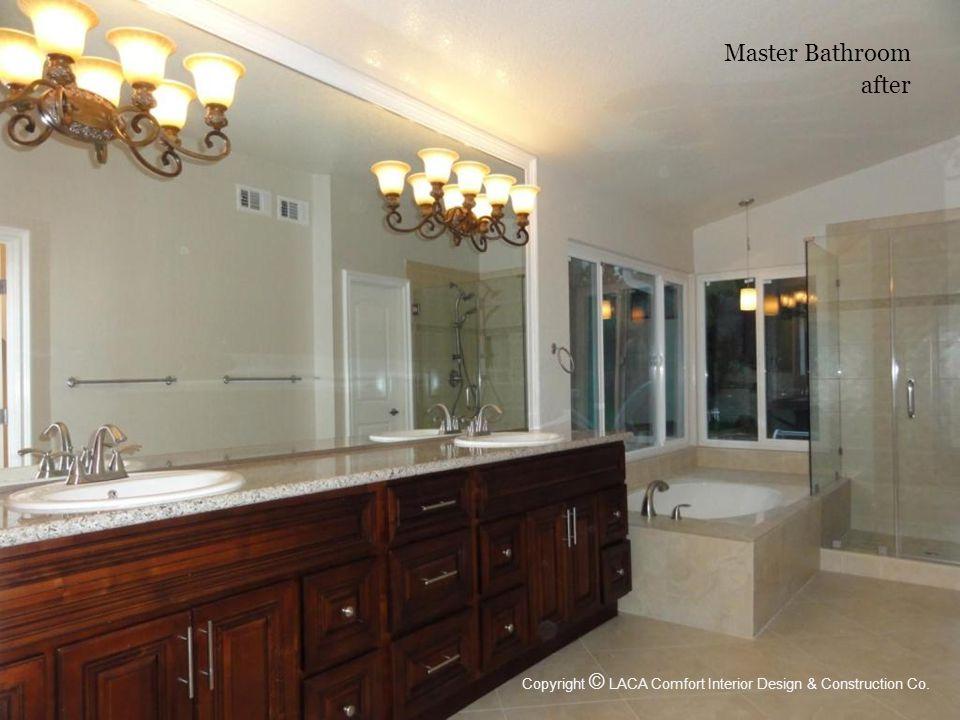 Master Bathroom after Copyright © LACA Comfort Interior Design & Construction Co.
