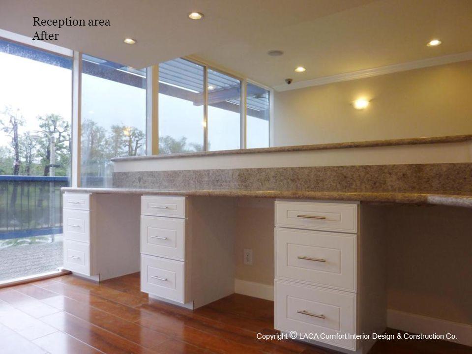Reception area After Copyright © LACA Comfort Interior Design & Construction Co.