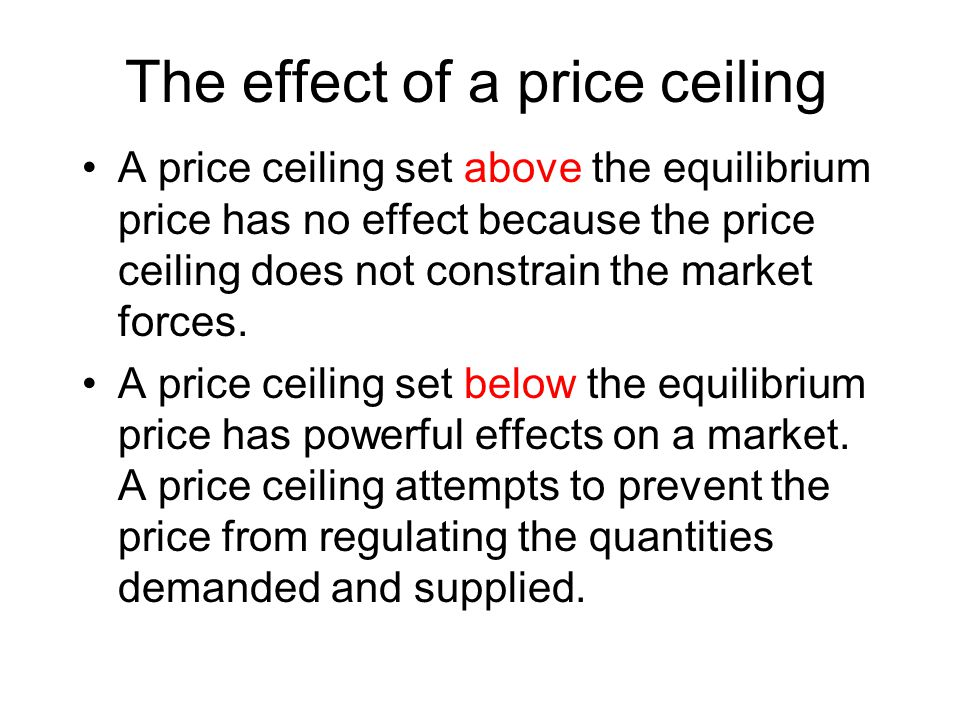 Equilibrium rent is $20 a unit Rent ceiling is $16 a unit Shortage = 56,000 units of housing Housing Markets and Rent Ceilings $24= maximum black market rent