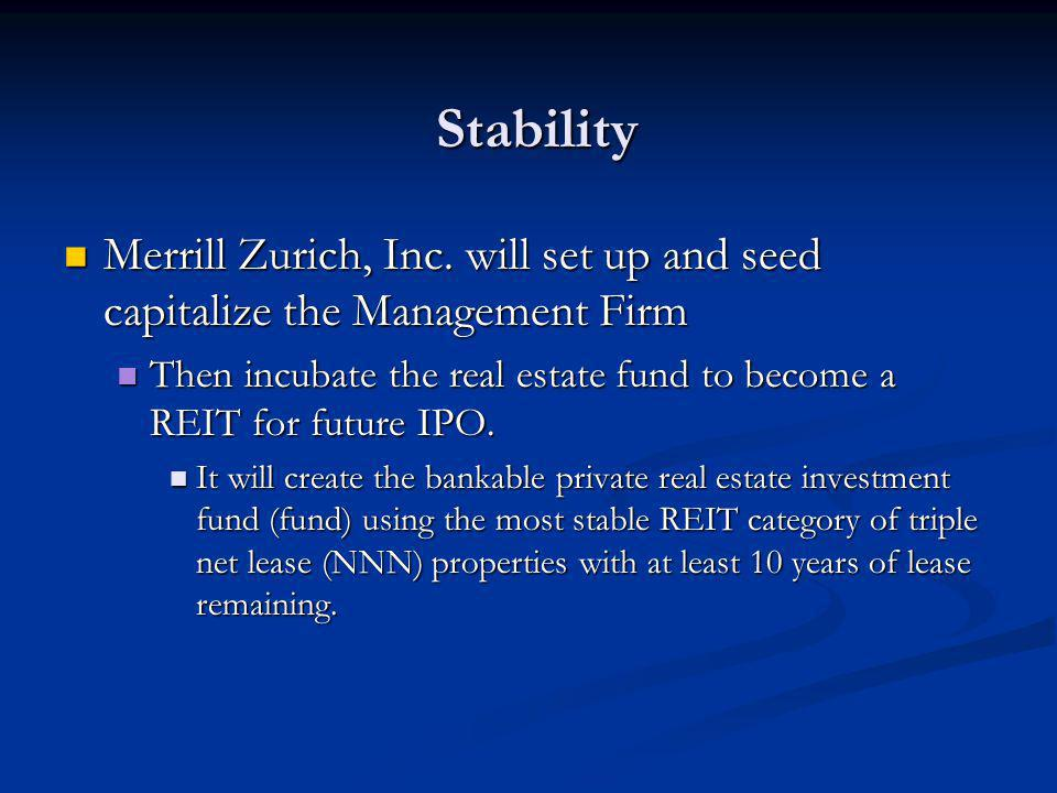 Stability Merrill Zurich, Inc.
