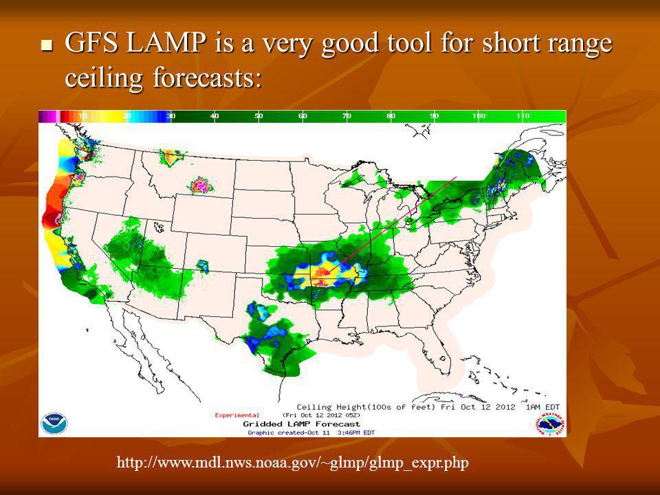 GFS LAMP - Low Ceilings GFS LAMP - Low Ceilings