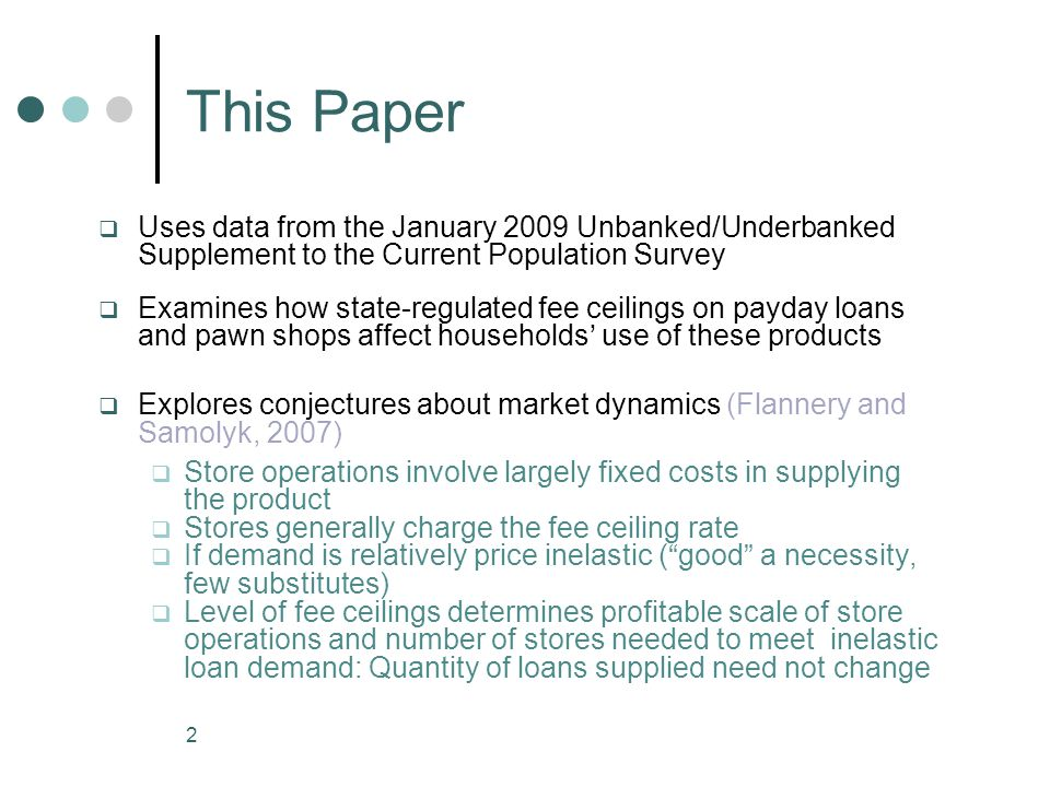 23 Payday Loans and Pawn shopSubstitutability