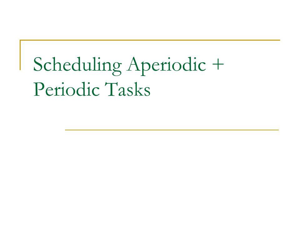 Scheduling Aperiodic + Periodic Tasks