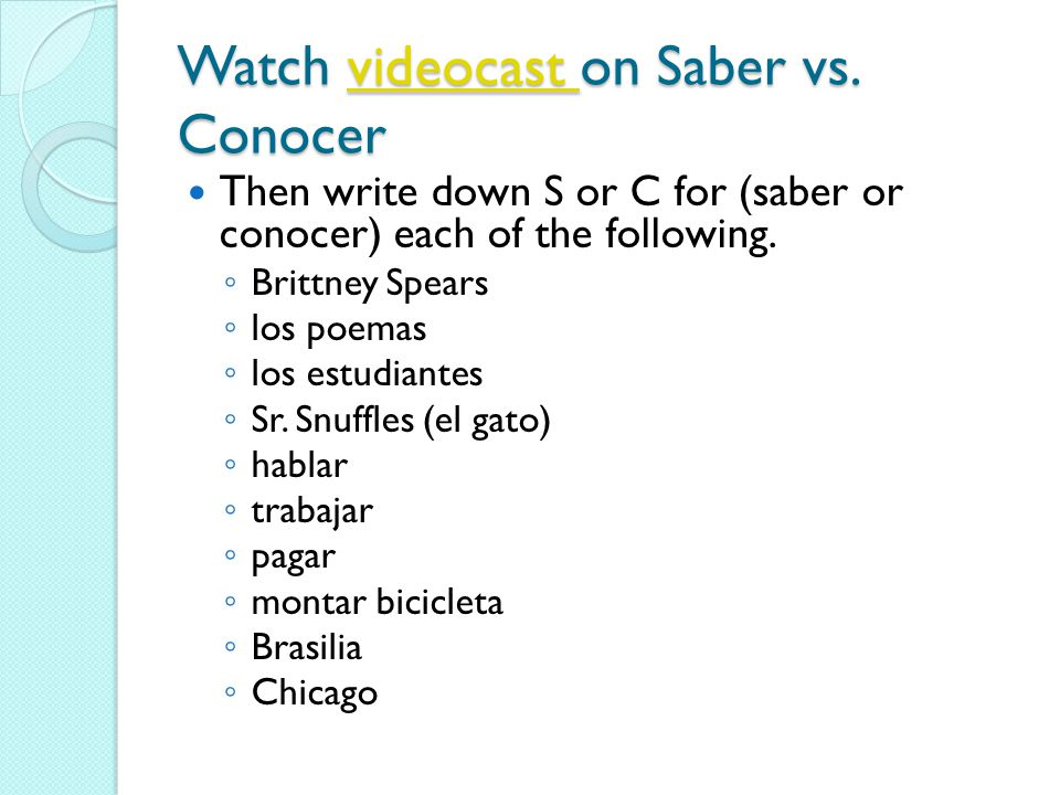 Watch videocast on Saber vs.