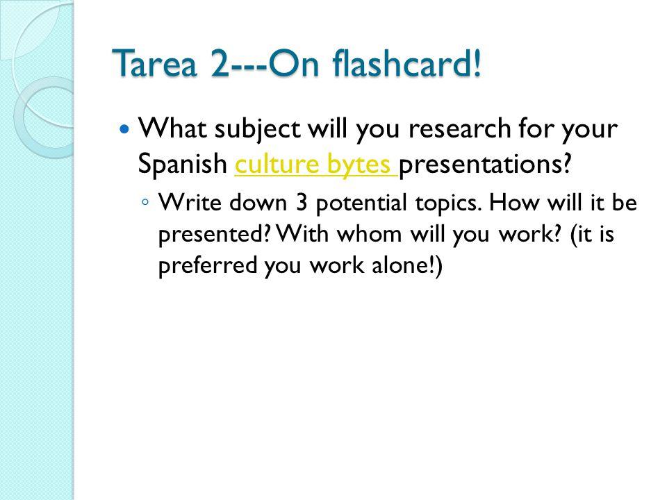 Tarea 2---On flashcard.