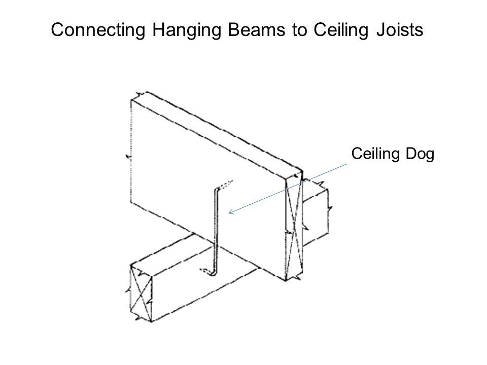 Connecting Hanging Beams to Ceiling Joists Ceiling Dog