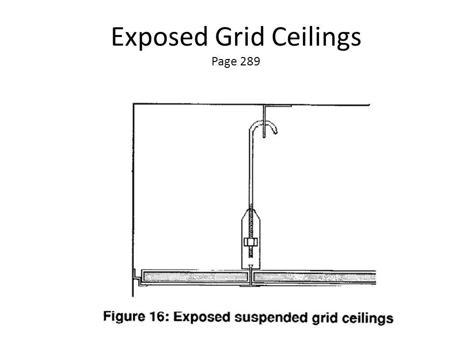 Exposed Grid Ceilings Page 289
