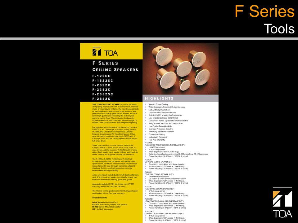 F Series Tools