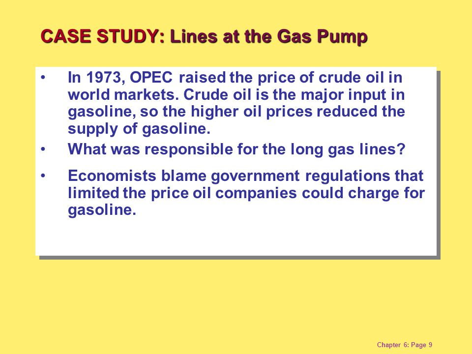 Chapter 6: Page 9 In 1973, OPEC raised the price of crude oil in world markets.