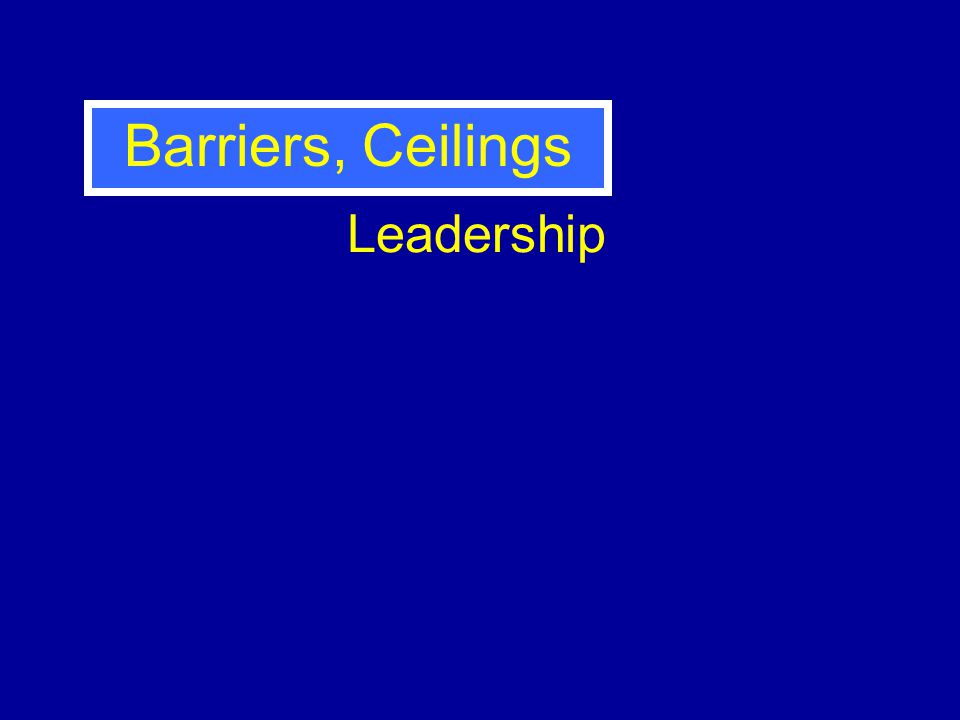 Leadership Barriers, Ceilings
