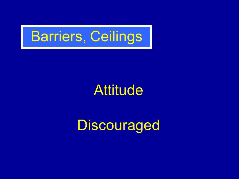 Attitude Discouraged Barriers, Ceilings
