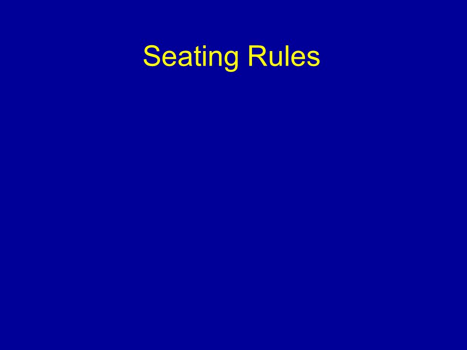Seating Rules