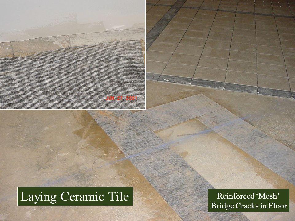 Reinforced Mesh Bridge Cracks in Floor Laying Ceramic Tile