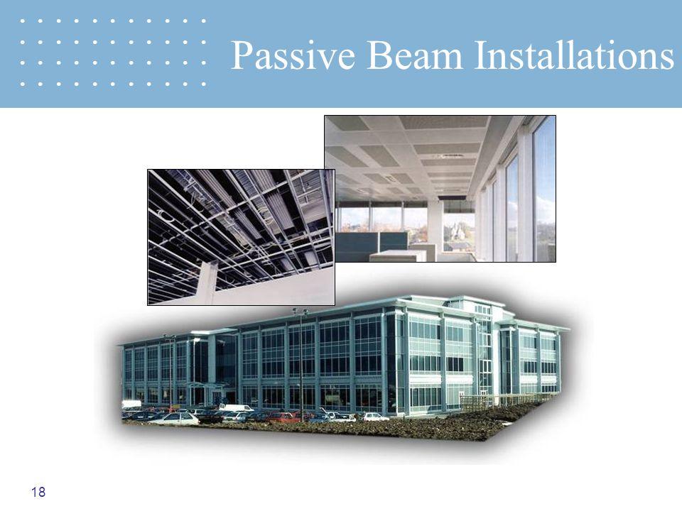 18 Passive Beam Installations