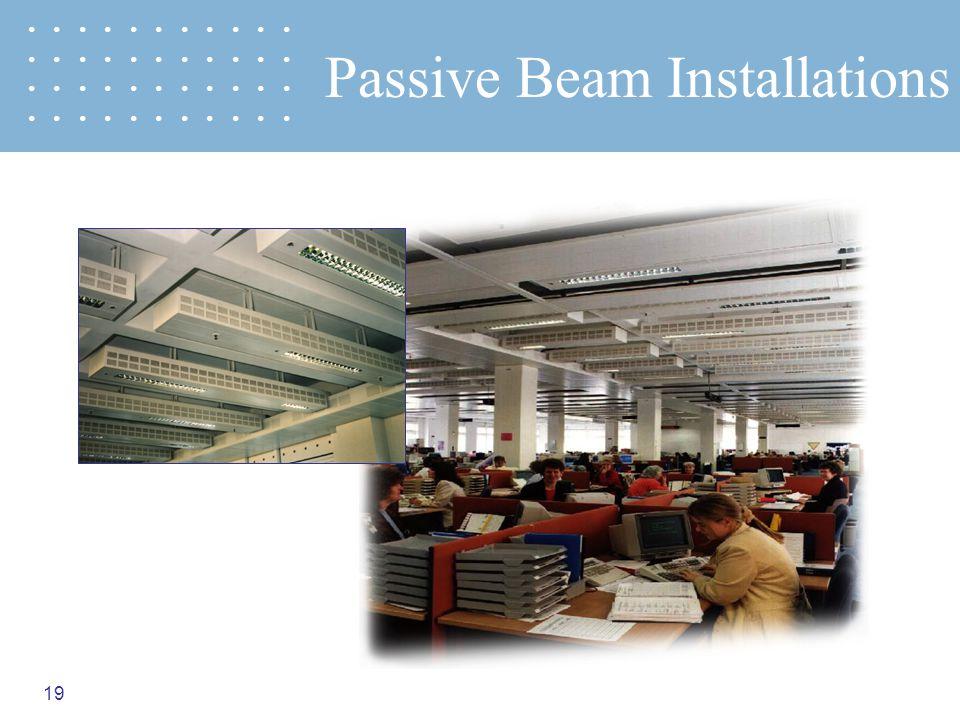 19 Passive Beam Installations