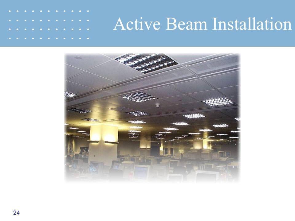 24 Active Beam Installation