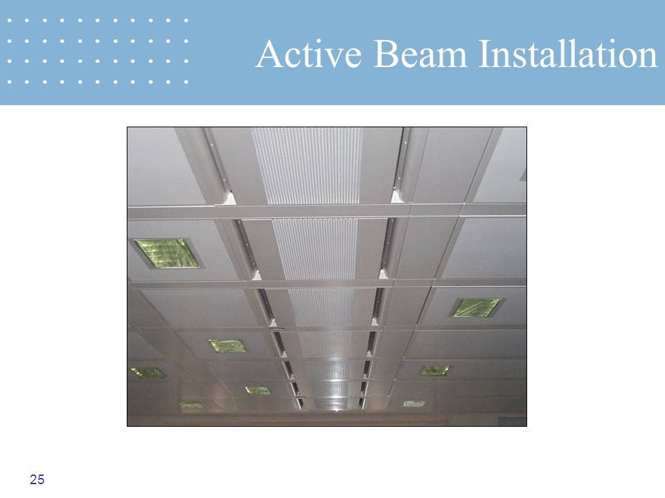 25 Active Beam Installation