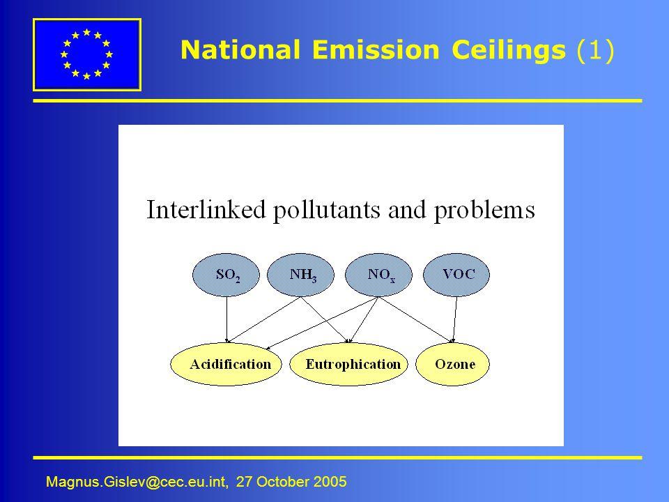 Magnus.Gislev@cec.eu.int, 27 October 2005 National Emission Ceilings (1)