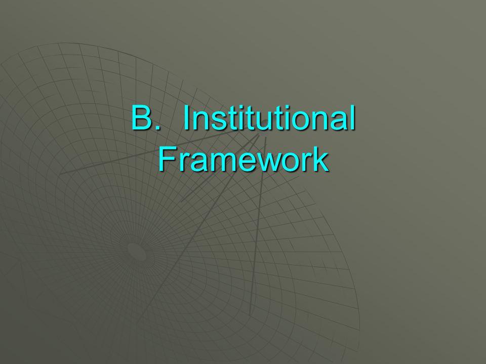 B. Institutional Framework