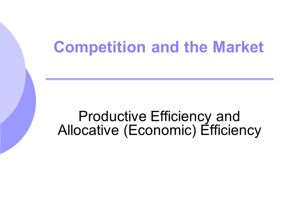 Topics to be Discussed Evaluating the Gains and Losses from Government Policies The Efficiency of a Competitive Market