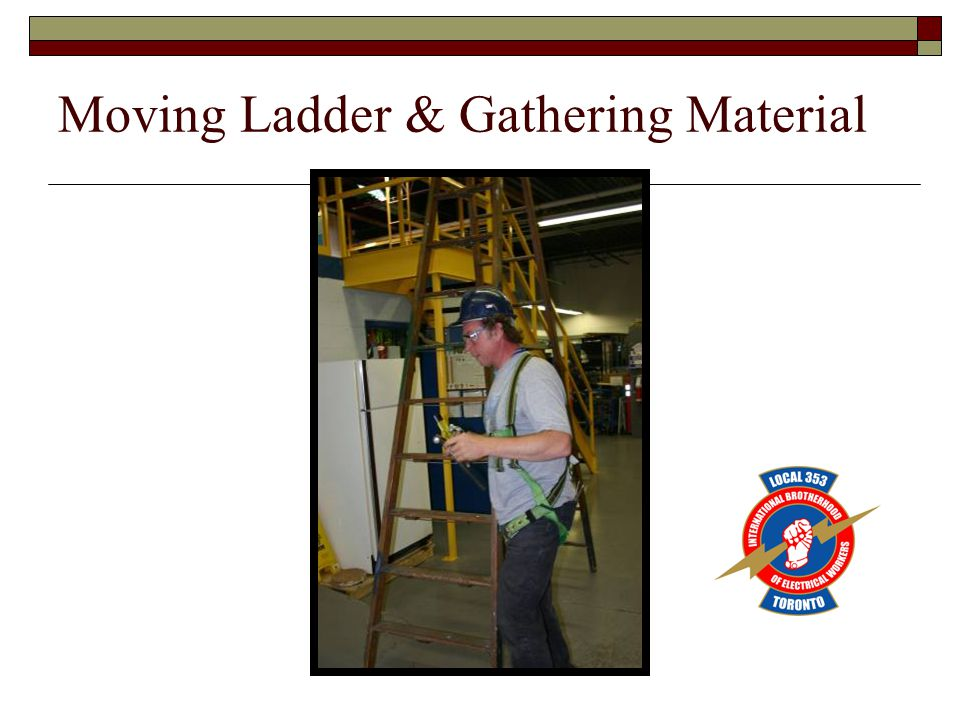 Moving Ladder & Gathering Material