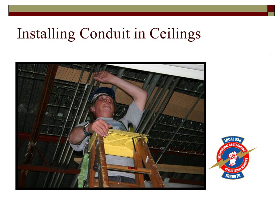 Installing Conduit in Ceilings