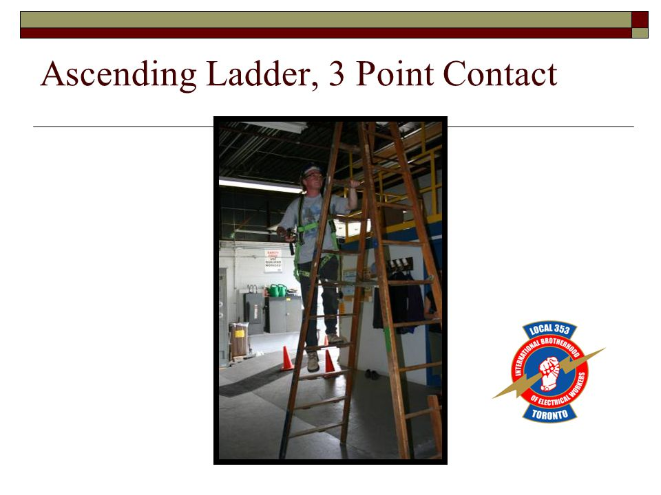Ascending Ladder, 3 Point Contact