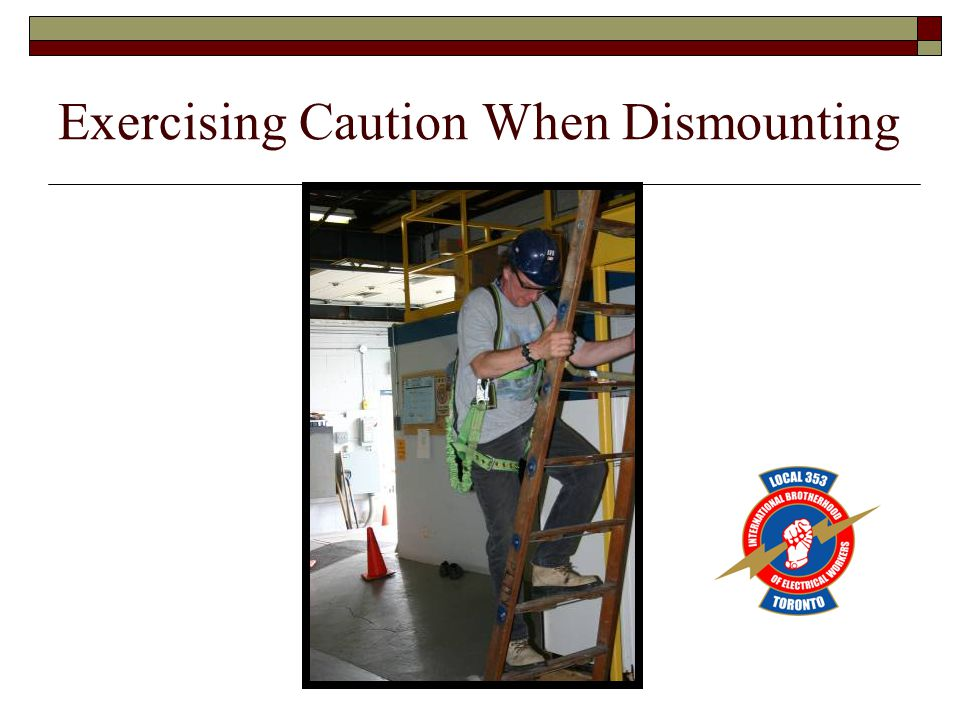 Exercising Caution When Dismounting