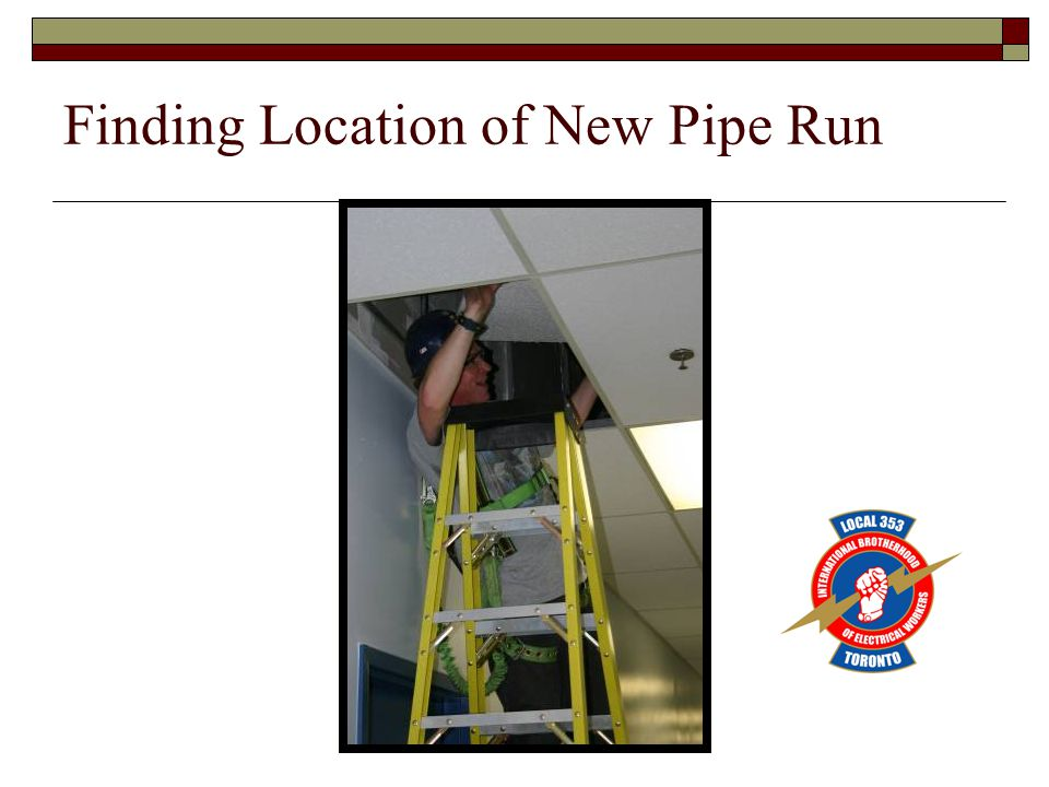 Finding Location of New Pipe Run