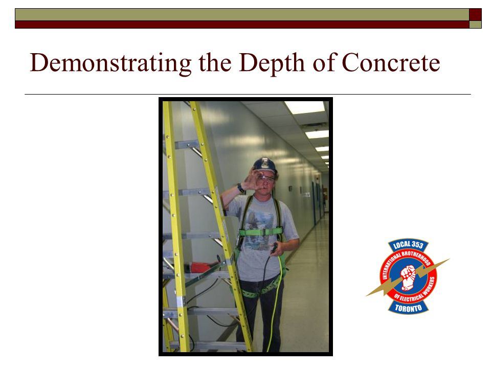 Demonstrating the Depth of Concrete