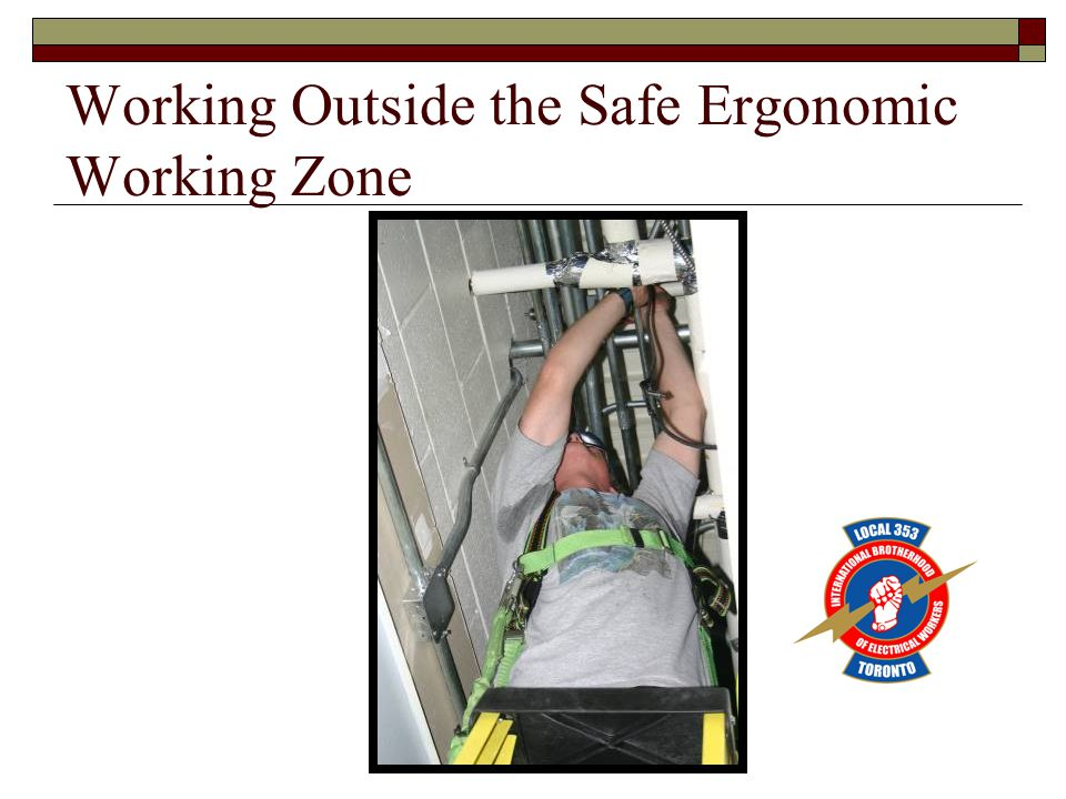 Working Outside the Safe Ergonomic Working Zone