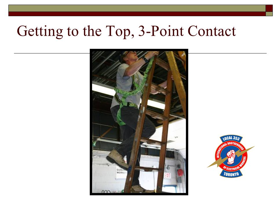 Getting to the Top, 3-Point Contact