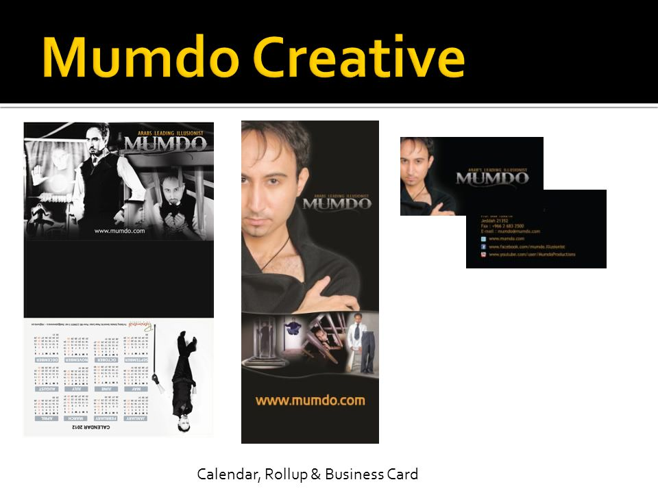Calendar, Rollup & Business Card