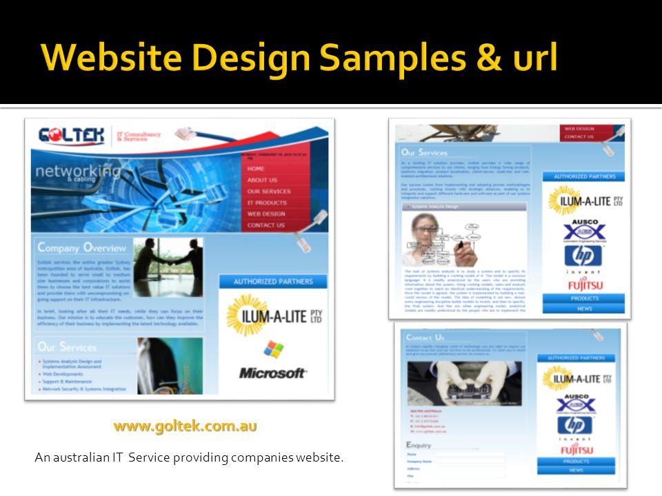 www.goltek.com.au An australian IT Service providing companies website.