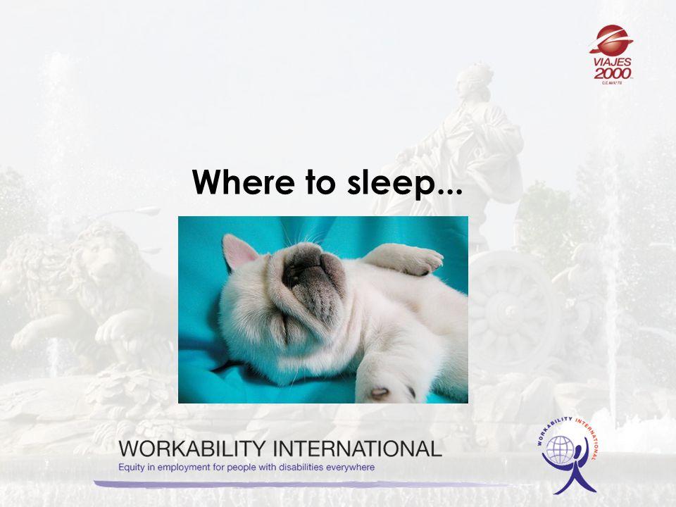Where to sleep...