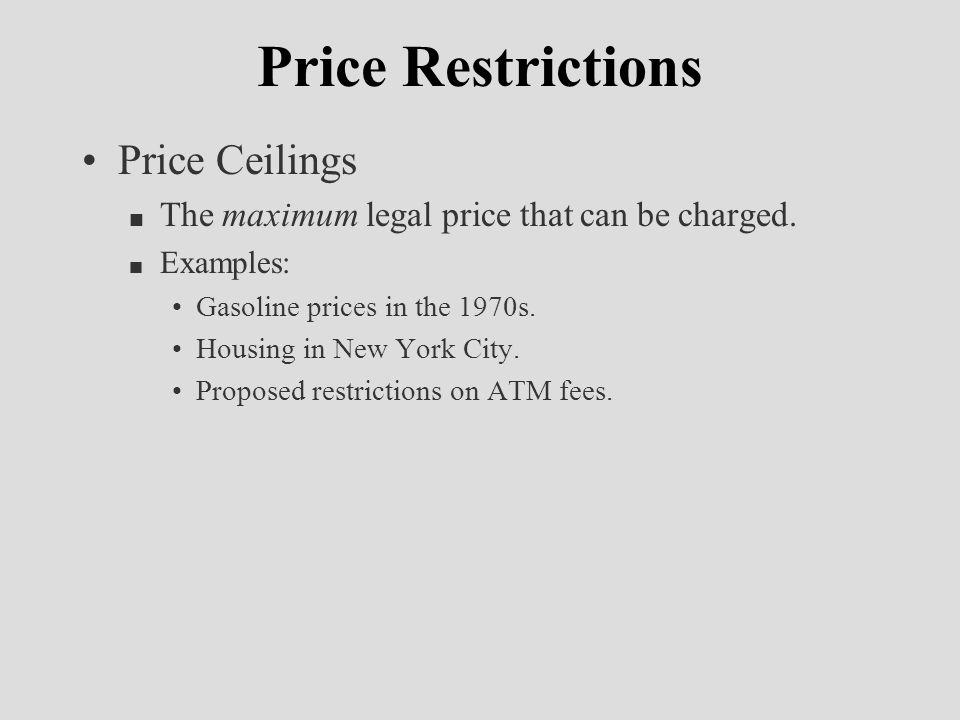 Price Quantity S D P* Q* P Ceiling Q s PFPF Impact of a Price Ceiling Shortage Q d
