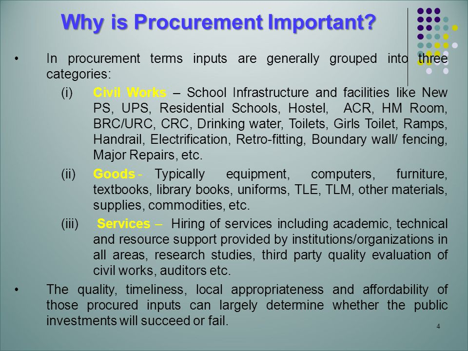 4 Why is Procurement Important.