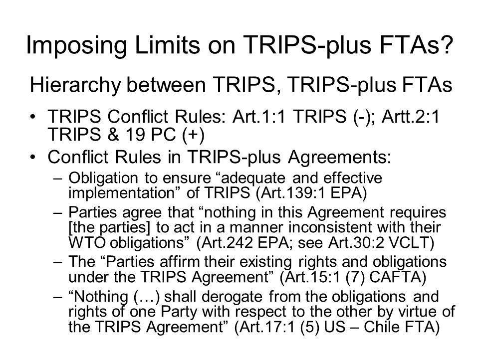 Imposing Limits on TRIPS-plus FTAs.