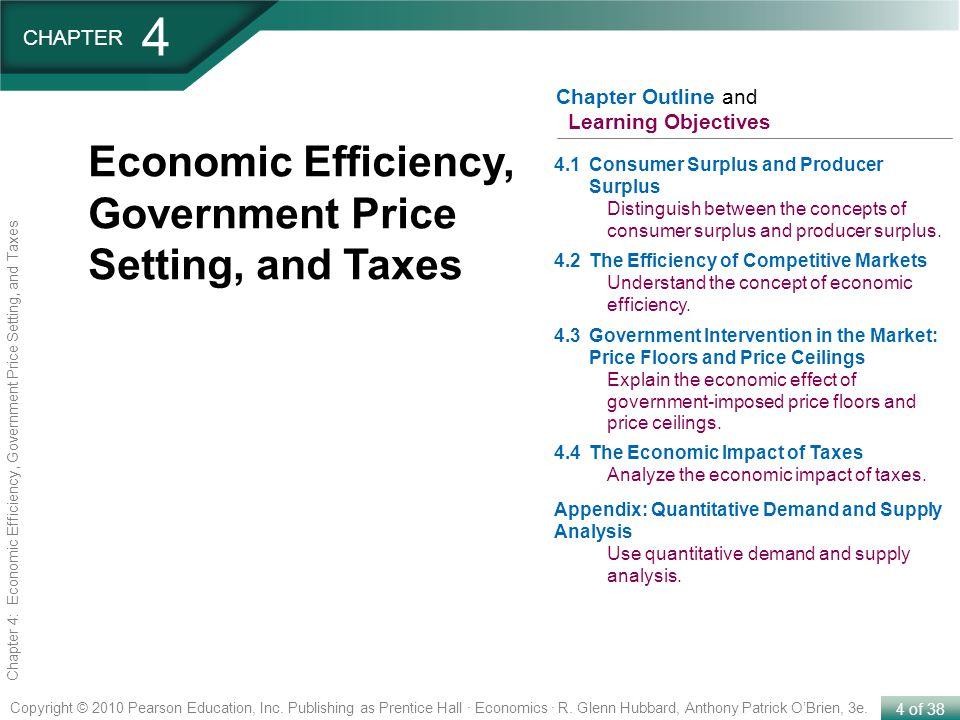 4 of 38 Copyright © 2010 Pearson Education, Inc. Publishing as Prentice Hall · Economics · R. Glenn Hubbard, Anthony Patrick OBrien, 3e. Chapter 4: Ec