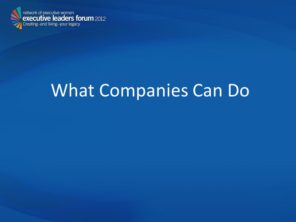 What Companies Can Do