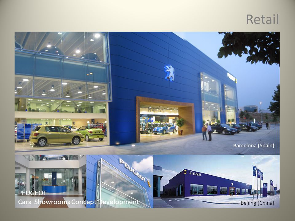 Retail PEUGEOT Cars Showrooms Concept Development Barcelona (Spain) Beijing (China)