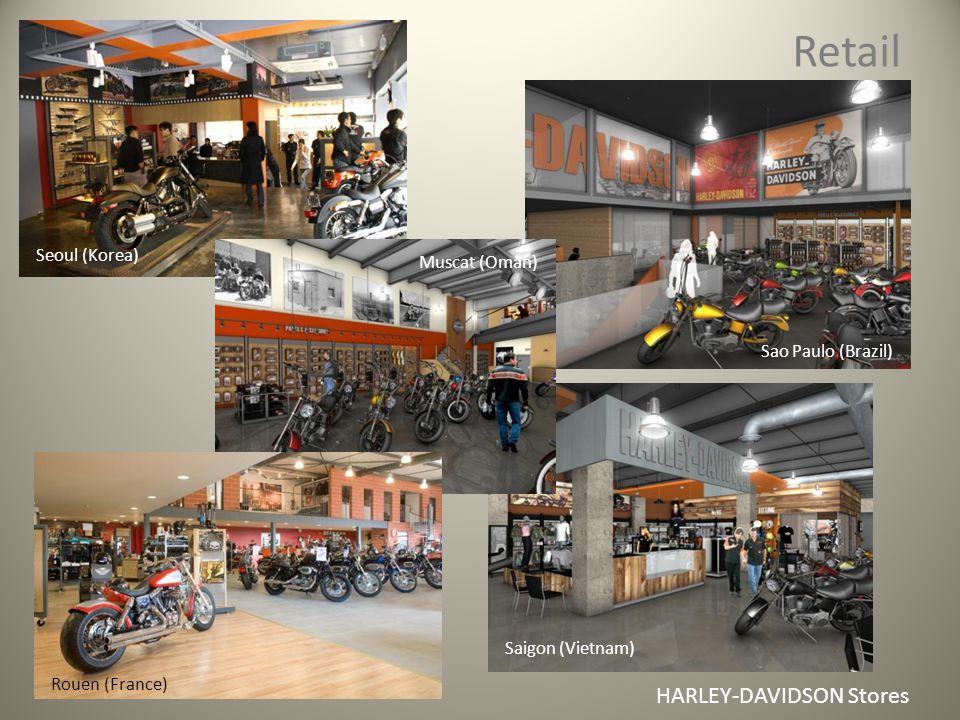 Retail HARLEY-DAVIDSON Stores Saigon (Vietnam) Seoul (Korea) Sao Paulo (Brazil) Rouen (France) Muscat (Oman)
