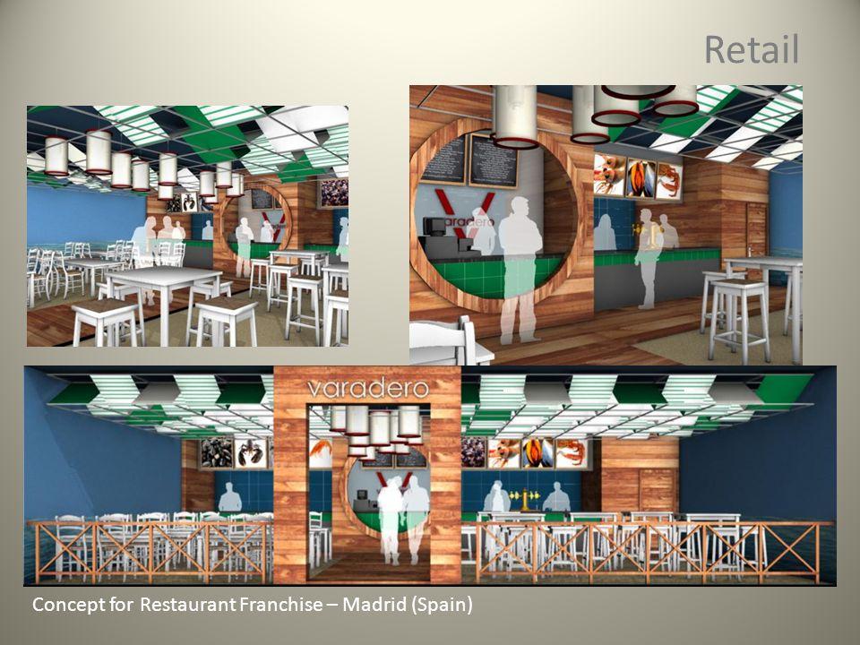 Retail Concept for Restaurant Franchise – Madrid (Spain)