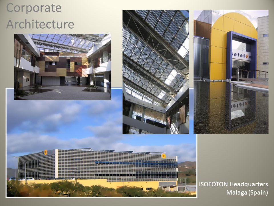 Corporate Architecture ISOFOTON Headquarters Malaga (Spain)
