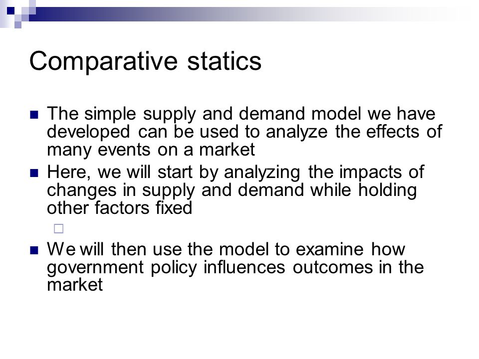 Changes in producer surplus Suppose the equilibrium price rises.