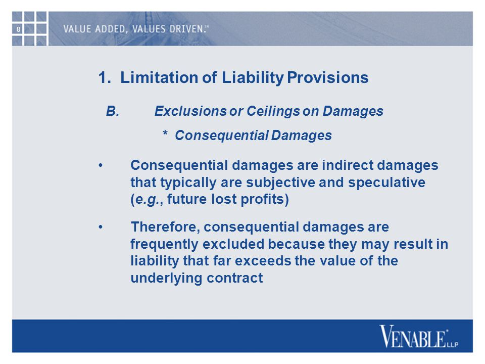 9 1.Limitation of Liability Provisions C.